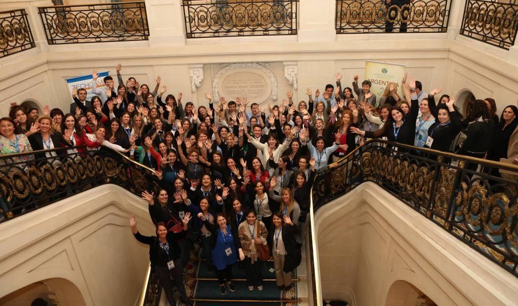 Todos los participantes del TechCamp Argentina, organizado por Voces Vitales en la Embajada de Estados Unidos