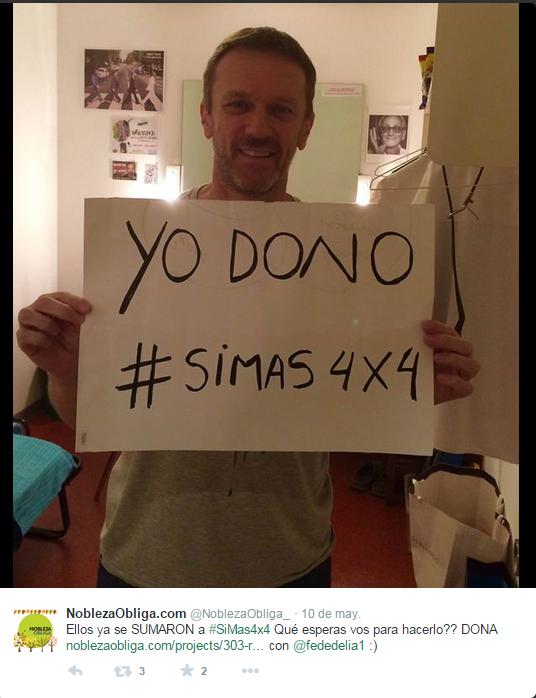 @fedelia apoyando #SiMas4x4